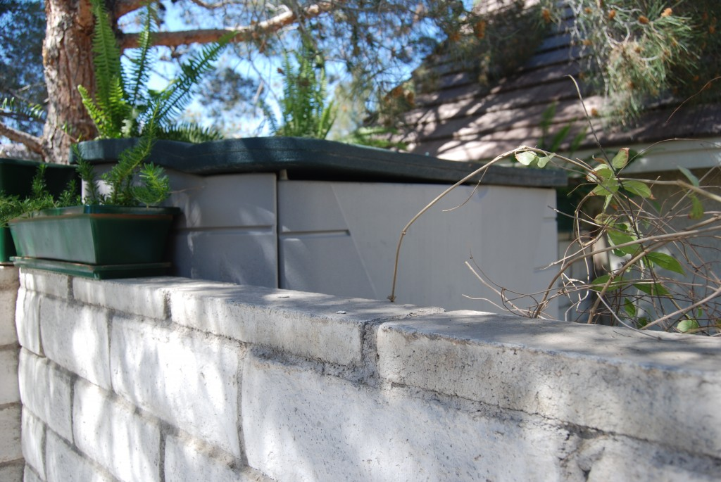 These planters were recently added by Goodsit to cover up her ILLEGAL SHED that violates setback and architectural standards set forth in the GOVERNING DOCUMENTS!